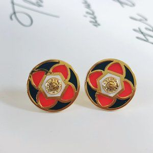 Henri Bendel Enamel Glaze Lucky Clover Earrings-60